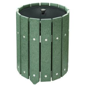 grüner Abfallbehälter rund - 200100GN
