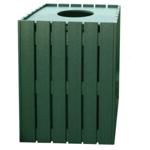 grüner Abfallbehälter rechteckig, 76L - 200160GN