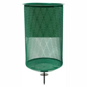grüner Abfallkorb gerade, 76L - 13975