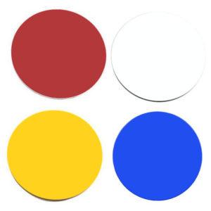 runde Abschlagmarkierungen aus Kunststoff