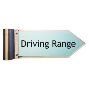"""Acrylschild """"Driving Range"""" zu Schilderbaum"""