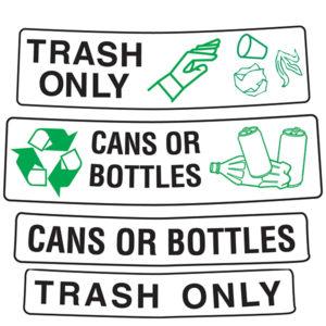 Aufkleber für Abfallbehälter