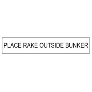 "Aufkleber ""Place rake outside Bunker"" - 11050"