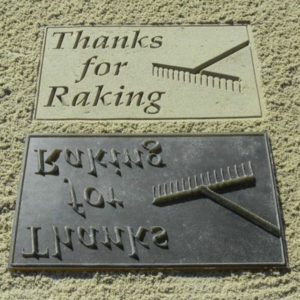 "Bunkerstempel ""Thanks for Raking"" - DU36100"