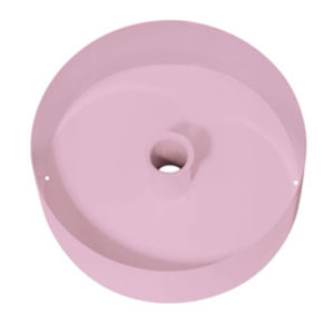 Cup Metall 20.3 cm, pink - 18700P