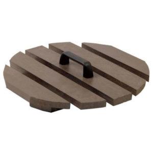 brauner Deckel mit Griff für die Abfalleimer Tapered und Deluxe - BMS41031