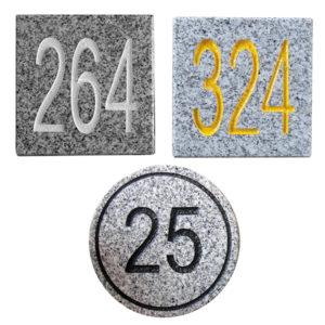 Distanzmarkierungen aus Granit