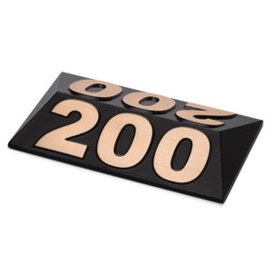 Entfernungsmarker Pyramide, Bronze-Guss - 300128BZ