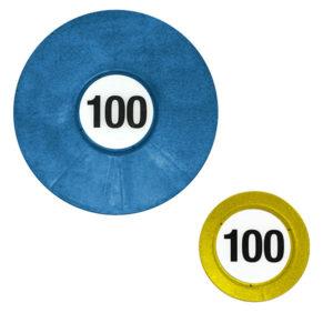 blauer und gelber Entfernungsmarker Standard