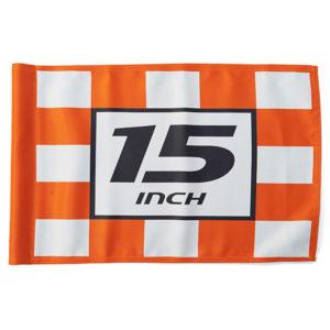 Fahne 15 INCH, kariert - PA8650