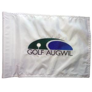Golffahne mit Clublogo bestickt