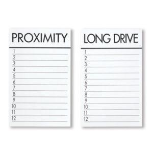 """Ersatzkarten zu Kartenhalter """"PROXIMITY"""" & """"LONG DRIVE"""" – 10701"""