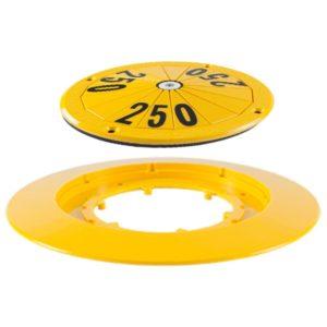 gelb-schwarzes Kirby Marker Top mit Collar