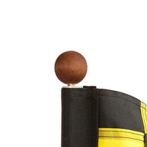 Knauf aus Holz, rund - PA9098-9