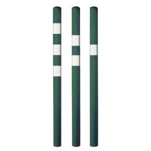 grüne Distanzpfosten mit weissen Streifen
