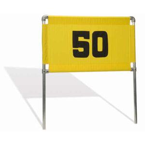 Range Banner Rahmen aus Aluminium mit einem gelb-schwarzen Range Banner - DU29071