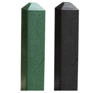 grüner und schwarzer Green Line Pfosten