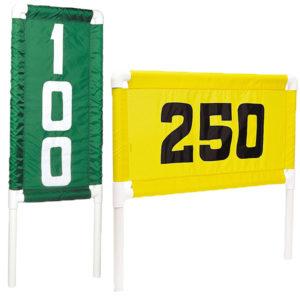 grün-weisser und gelb-schwarze Range Banner