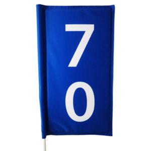 blaue Range Fahne mit Einlage und Distanz