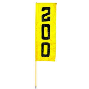 gelb-schwarze vertikale Rangefahne - 60200