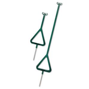 grüne Seil- und Kettenpfosten ECO