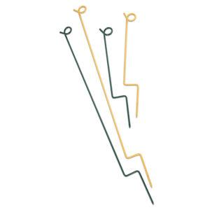 gelbe und grüne Seilpfosten aus Metall
