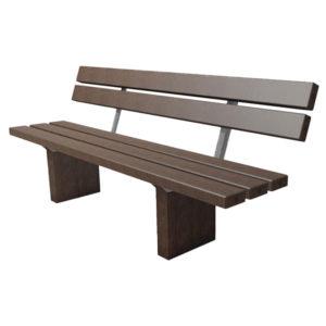 braune Sitzbank mit Lehne Roba - SI5332