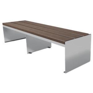 braune Sitzbank ohne Lehne Straight -SI5336