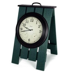 grüne Staffelei mit Uhr - PA3320