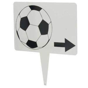 Steckschild Footgolf mit Richtungspfeil - CA29660